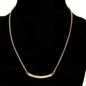 Lia Sophia gold + crystal necklace, very sweet!